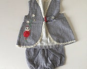 1960's Lady Bug  Top & Bloomers (2t/3t)