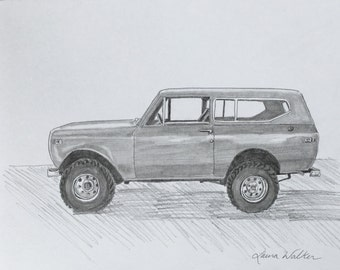 custom drawing from photo car truck