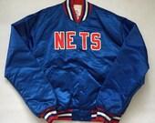 Vintage New Jersey Nets Royal Blue Satin Starter Jacket