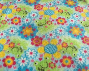 Frogs and Flowers! Fleece Blanket