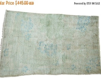 10% OFF SALE DISCOUNTED 2.5x4 Distressed Oushak Rug