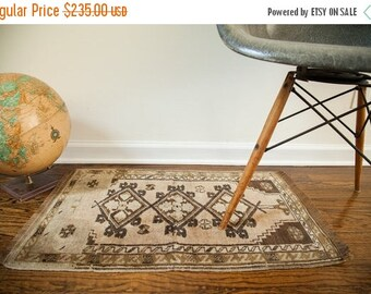 10% OFF RUG SALE Discounted 2x2.5 Muted Vintage Turkish Rug
