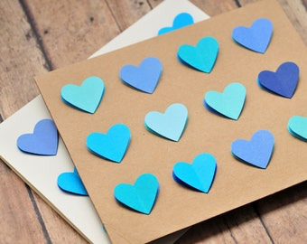My Blue Heart Card // Blank Card // Love Note // Note Card // Thinking of You // Just Because