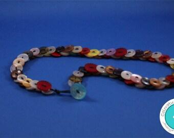 Vintage Button Necklace Multi-Colored