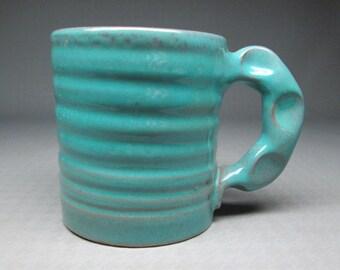Rowantrees Pottery coffee mug Blue Hill Maine