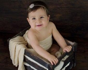 Newborn Headband, Newborn photo prop, Baby photo prop, Eco headband, Newborn tieback