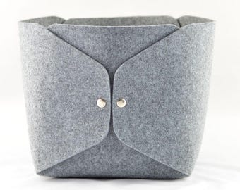 large storage basket high gray felt storage bin felt bin basket toys