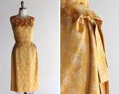 1950s Golden Brocade Cocktail Dress