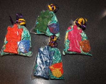 Recycled Crayons. Kids Crayons. Party Favors. 15 Bags of Transformer Inspired Crayons. Crayons. Robot Crayons. Robot. Rainbow Crayons.