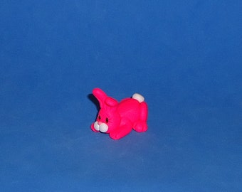 Polymer Clay Larger Hot Pink Bunny
