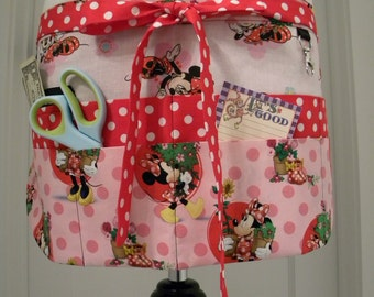 Teacher Aprons-Crafter Vendor Utility Apron-Minnies Flower Garden