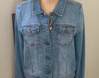 SPRING CLEANING SALE Light Denim Boho Jacket by Rubbish Size Large