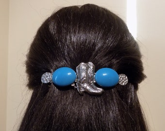 Large Barrette For Thick hair/ Cow girl/ Womens Gift