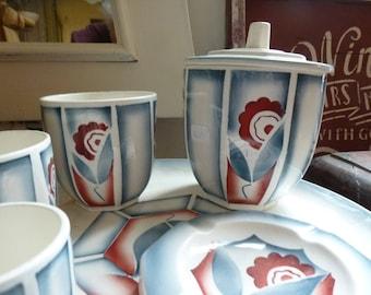 Art Deco set of ceramic items