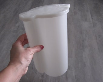 Vintage White Clear Tupperware Pitcher
