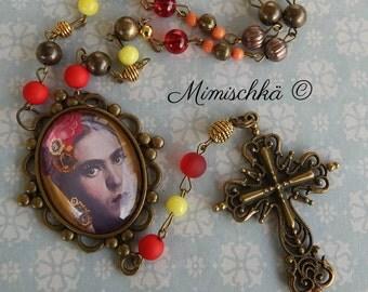 Necklace  rosary frida kahlo