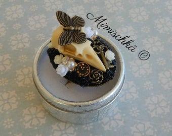 Ring skull bird gothic butterfly key