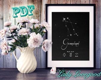 Gemini - Printable Art