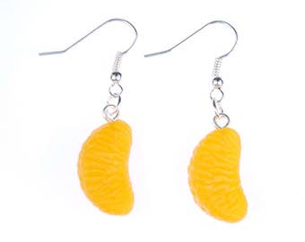 Mandarin Orange earrings piece Mandarin piece Miniblings oranges fruit orange