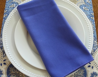 SALE Dark Purple Periwinkle Napkin Table Decor Dining Room Size 19x19 Napkins