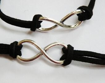 bracelet eternity in black and silver