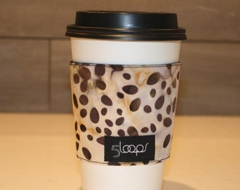 Reusable Coffee Cup Cozy Batik Print Fabric Reusable Paper Cup Sleeve