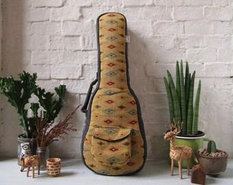 Concert ukulele case - Yellow - Woven Cotton Ukulele Case. (Ready to ship)