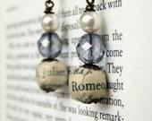 Harry Potter three bead earrings in blue