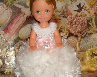 Handmade Crochet Dress For Kelly Barbie number  1090