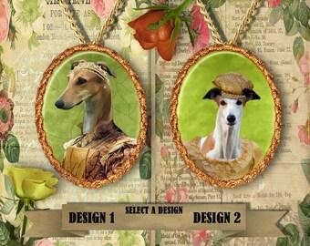 Greyhound Jewelry/Greyhound Pendant or Brooch/Greyhound Necklace/Dog Handmade Jewelry/Custom Dog Jewelry by Nobility Dogs