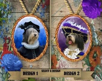 Polish Lowland Sheepdog Jewelry. PON Pendant or Brooch. PON Necklace. PON Portrait.Custom Dog Jewelry by Nobility Dogs.Dog Handmade Jewelry