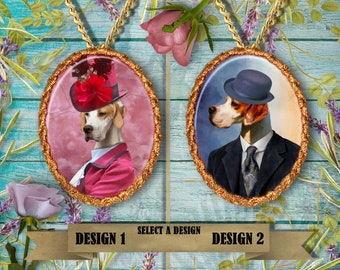 English Pointer Jewelry. English Pointer Pendant or Brooch. English Pointer Necklace. English Pointer Portrait. Custom Dog Jewelry.