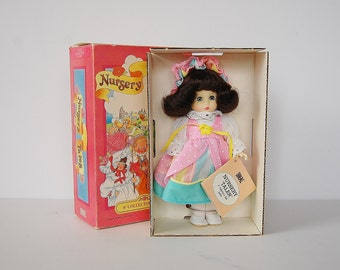 "Ideal Doll, Little Miss Muffet Doll, Nursery Tales Doll, 8"" Vinyl Doll"