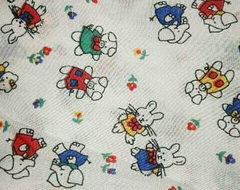 Vintage Bunnies Fabric