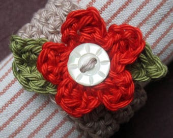 Crochet Pattern for Daisy Napkin Ring