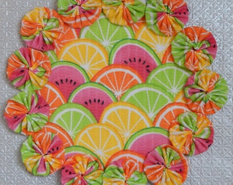 Sliced Fruit Yo Yo Doily