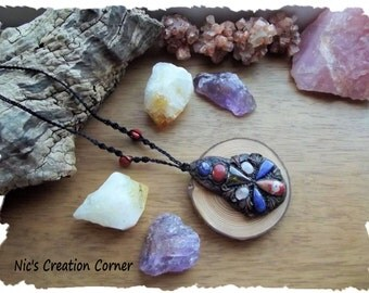 Large Multi Stone Pendant/Necklace.