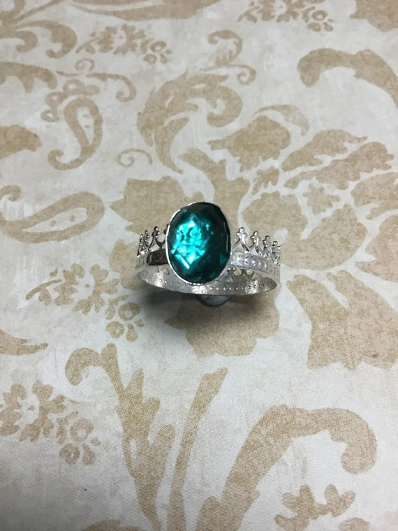 Sterling Silver Crown Jewel Ring, Faith Jewelry, Witness Jewelry, Women's Jewelry, Teen Jewelry, Artisan Jewelry, Metalsmith
