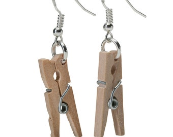 Clothes Line Clothes Peg Earrings( with real spring)