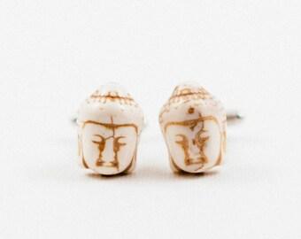 White Buddha Cufflinks