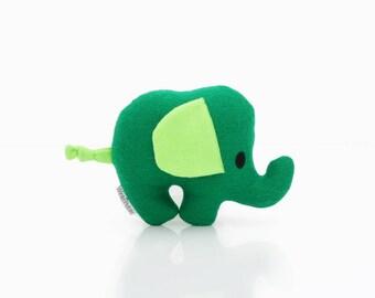 Elephant Pillow - Elephant Toy - Elephant Plush - Elephant Doll (Green)