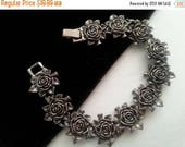 Now On Sale Vintage Rose Bracelet ** Retro Collectible Costume Flower Jewelry ** 60s Vintage Jewelry * Retro Rockabilly Accessories