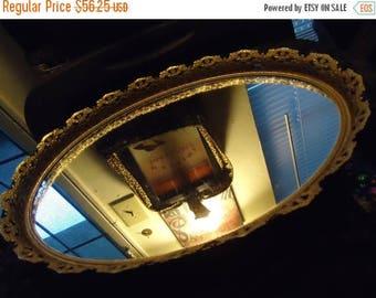 Now On Sale 1960's Vintage Large Gold Ornate Framed Vanity Mirror Mid Century Modern Hollywood Regency Home Decor