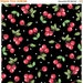 15 % off thru 1/23 MOTTOS To LIVE BY tossed red cherries on black Mary Engelbreit  by the 1/2 yard Quilting Treasures fabric-24351J