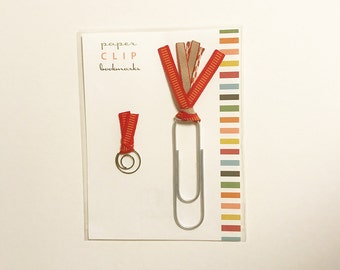 Paperclip Ribbon Bookmarks - Set of 2