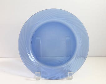 Vintage Pyrex Blue Festiva luncheon plate 7 1/2 inches
