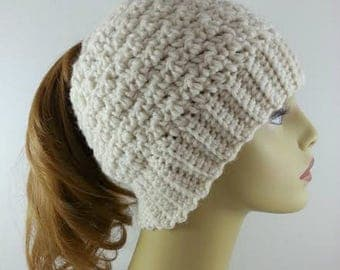 Ponytail Hat Merino Wool Ponytail Hat Womens Ponytail Hats Crochet Ponytail Hats Womans Ponytail Messy Bun Beanie Hat Ponytail Hat Crochet