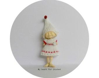 Realpuki White Snowflake Dress and Jingle Elf Hat