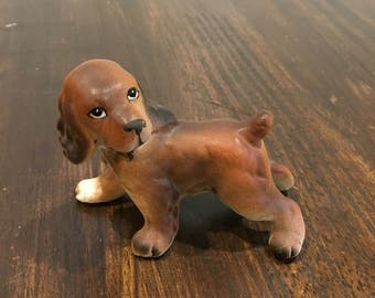 Cocker spaniel figurine Dog puppy