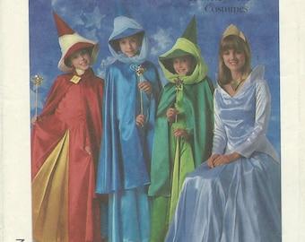 UNCUT Simplicity 8328 Disney Aurora Flora Fauna and Merryweather Costume Pattern Girls' Size 6-8